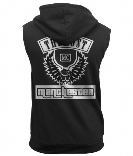 Black Sleeveless Hoodie - The Lost MC (your town) Grand Theft Inspired Design
